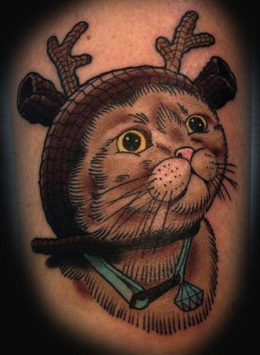Неудачные тату в виде котов (38 фото)
