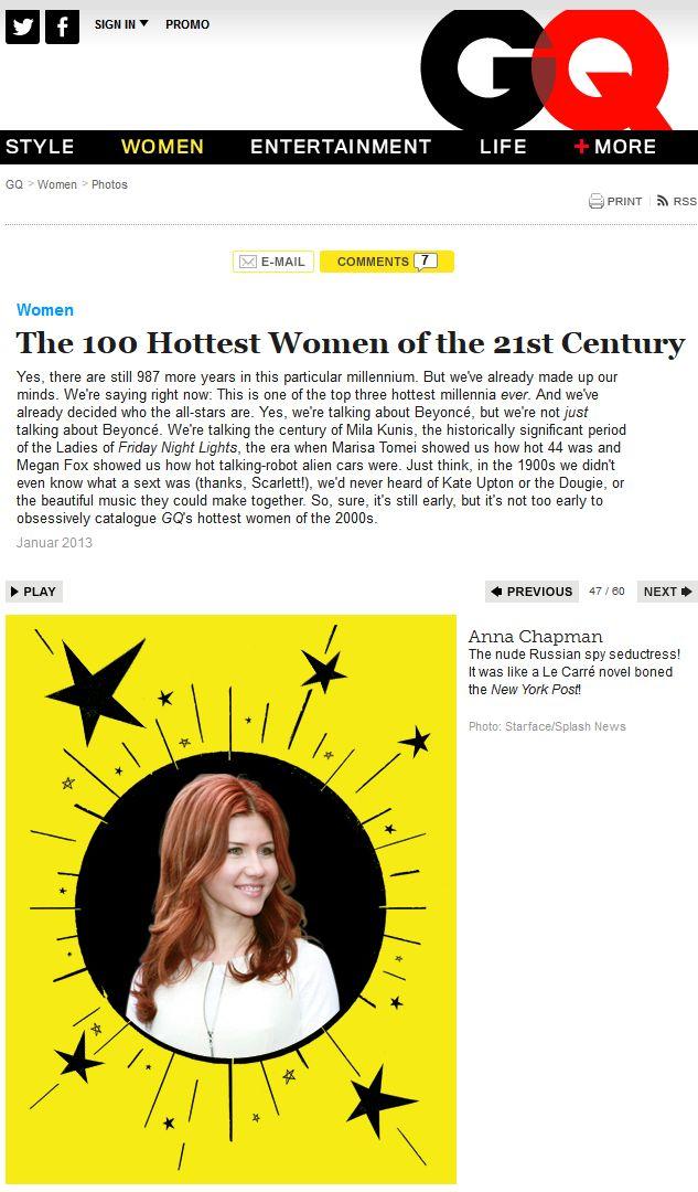 Анна Чапман попала в список самых сексуальных женщин века (10 фото)