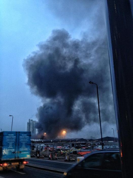 Крушение вертолета в центре Лондона (21 фото + 2 видео)