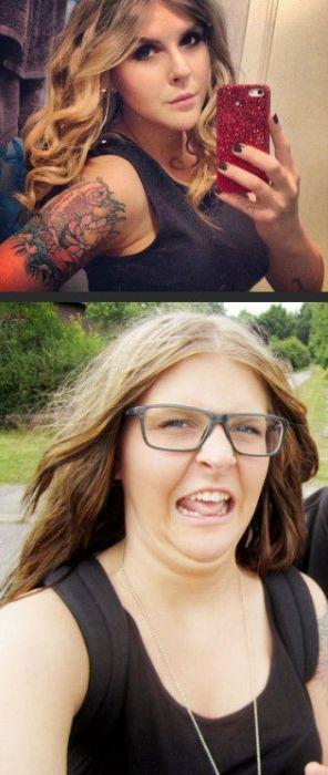 Девушки кривляются и корчат странные рожи (52 фото)