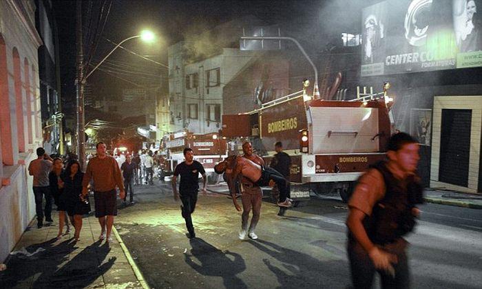 Пожар в ночном клубе Бразилии унес жизни 245 человек (13 фото + видео)