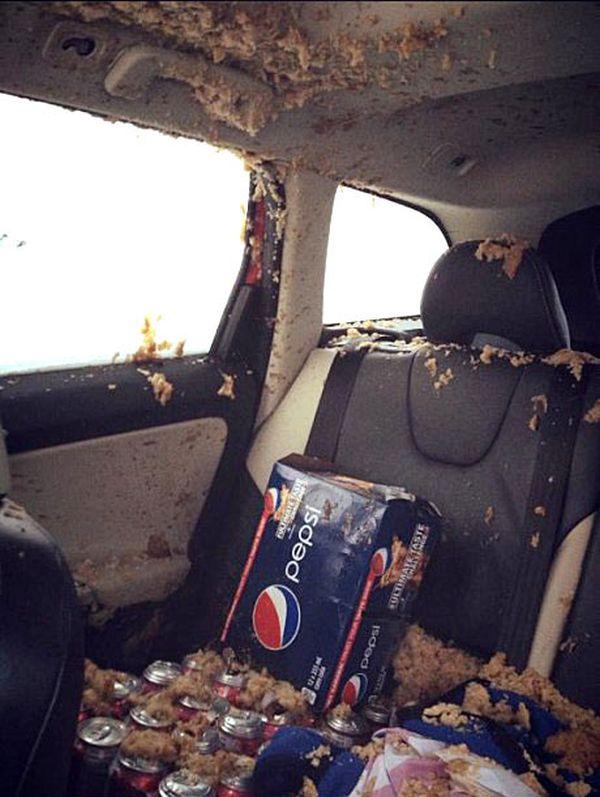 Не забывайте газировку на ночь в машине зимой. Часть 2 (3 фото)
