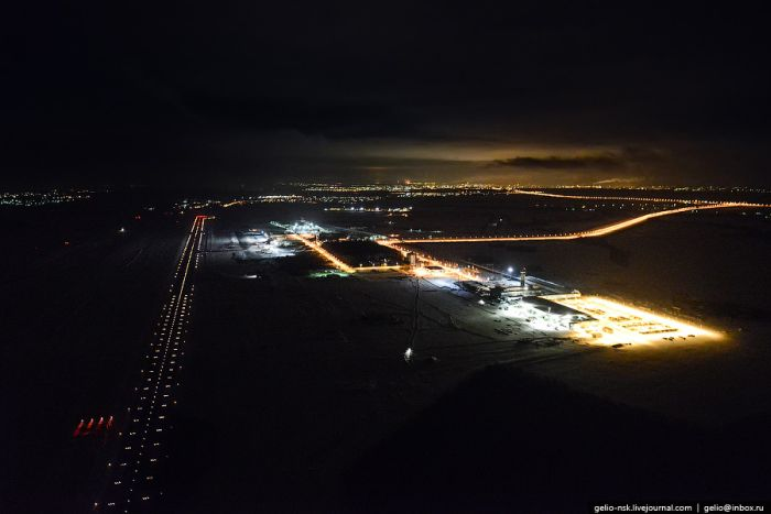 Огни ночной Казани с вертолета (39 фото)