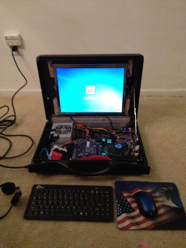 Самодельный игровой ноутбук, который поможет сэкономить (8 фото)