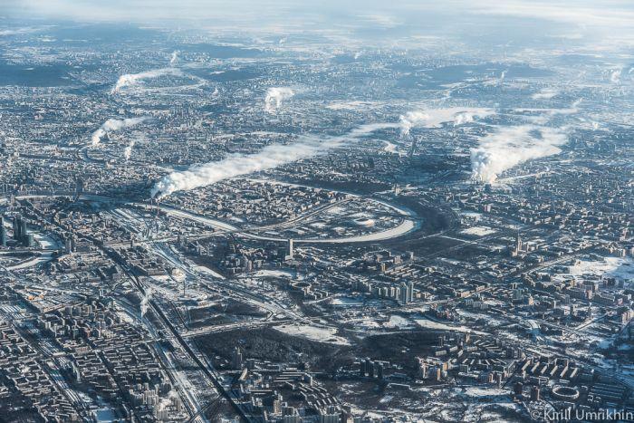 Москва с высоты птичьего полета (33 фото)