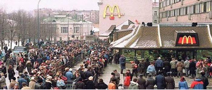 Открытие первого в СССР ресторана Макдоналдс (10 фото)