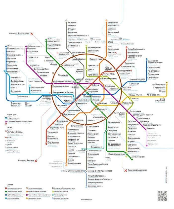 схему московского метро