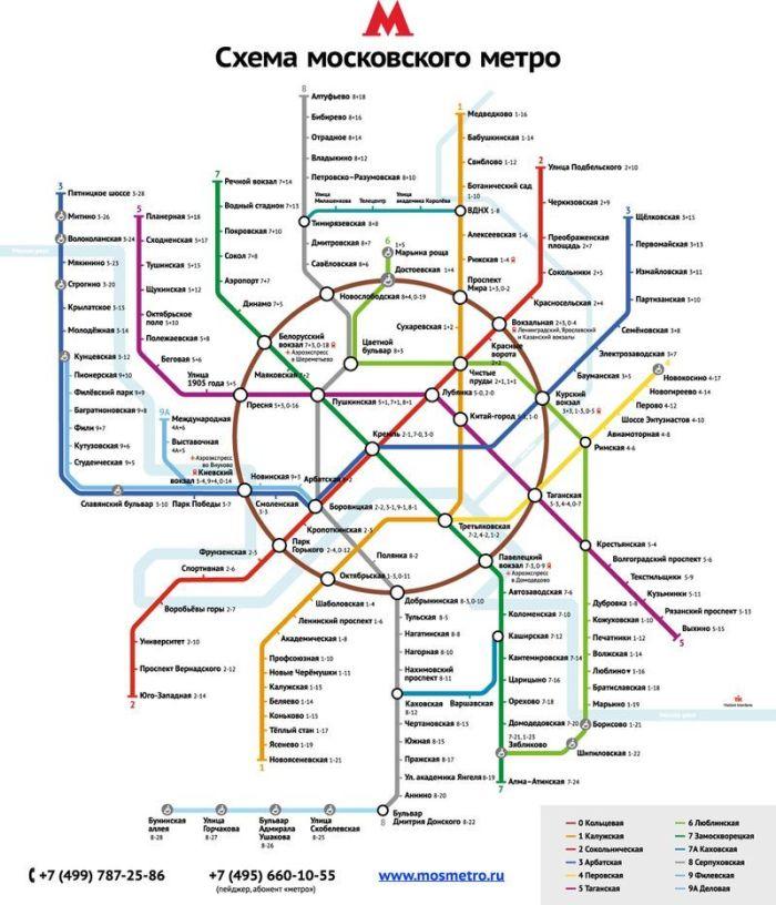 Столица переходит на новую схему московского метро (33 фото)