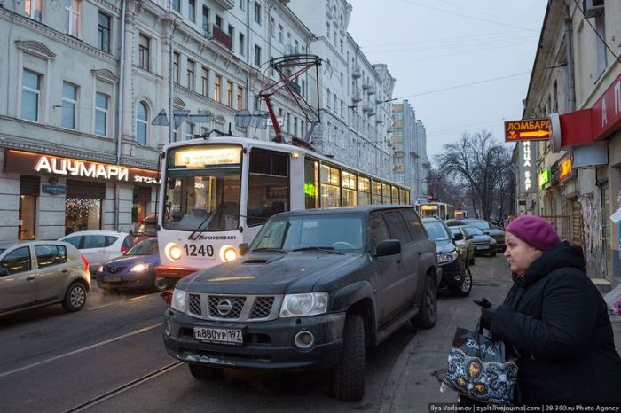 Трамвайное бедствие (8 фото)