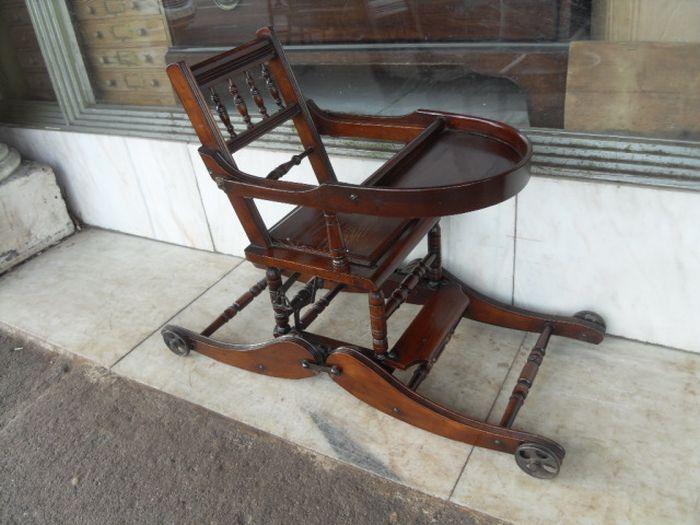 Винтажный ретро-стульчик (6 фото)