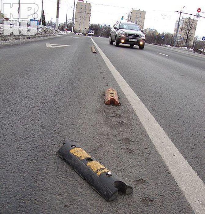 Улицы Москвы оборудуют делинеаторами (19 фото)