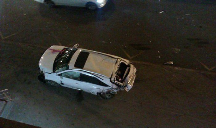 Серьезная авария по вине малолетки за рулем Cadillac Escalade (5 фото + видео)