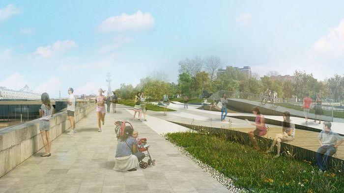 Проект Крымской набережной (9 фото)
