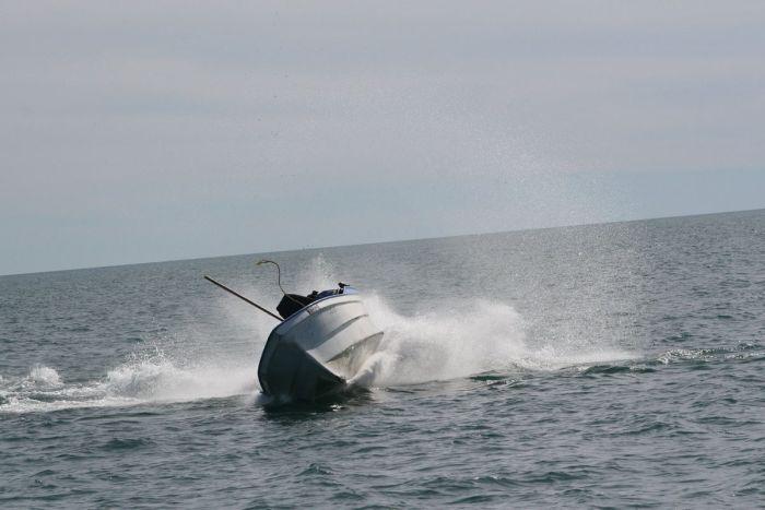 Кит перепутал лодку рыбаков со своей подругой (7 фото)