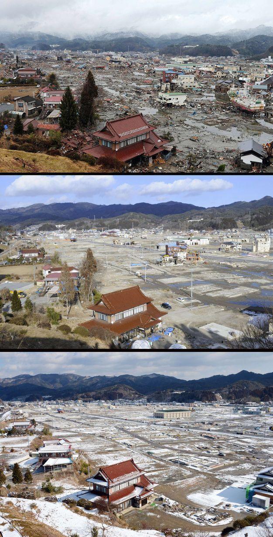 Япония после землетрясения и сейчас (38 фото)