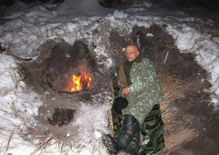 Интересный инструктаж, как не замерзнуть в зимнем лесу (11 фото)