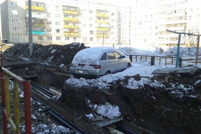 Коммунальная служба наказала невинного автовладельца (2 фото)