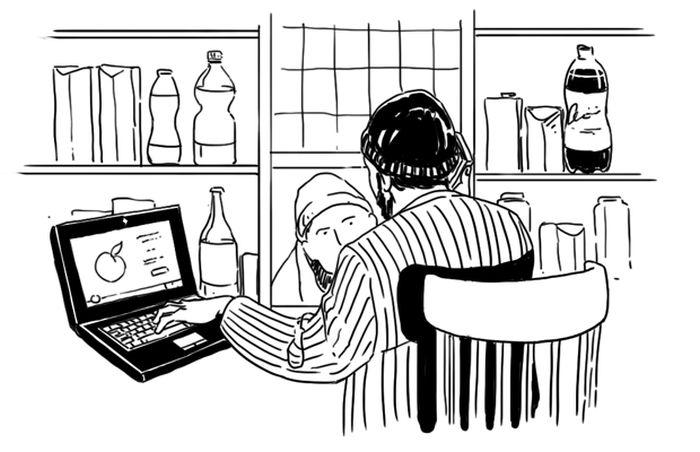 Как всё устроено: Продавец в ларьке (3 фото + текст)