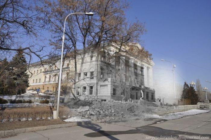 Волгоград в наше время - Сталинград времен войны (66 фото)