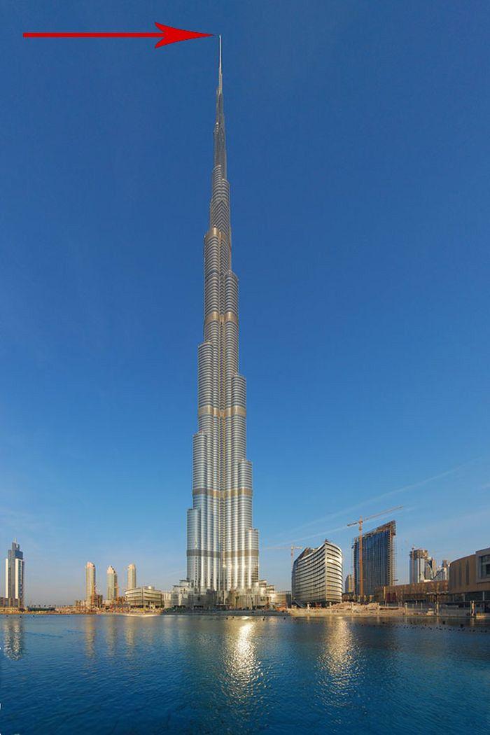Потрясающий вид с самого высокого здания в мире (3 фото)