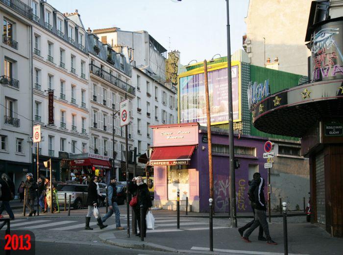 Сравнение Парижа в начале XX века и в наши дни (20 фото)