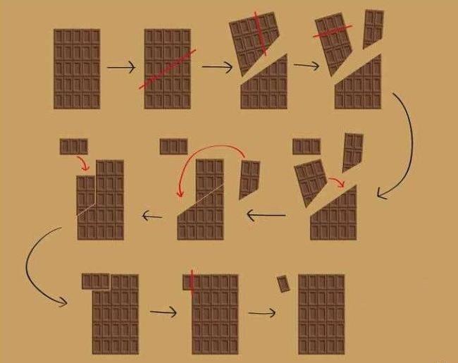 Шоколадная плитка - бесконечная сладость (3 фото + гифки)
