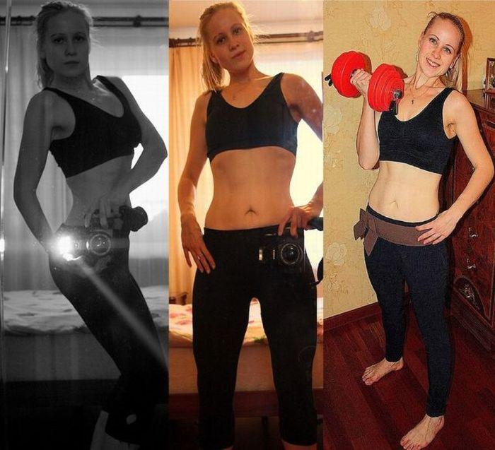 Девушка сбросила 40 кг за три месяца (26 фото)