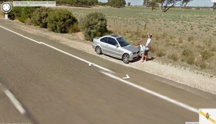 На страницы Google Street View попал секс (3 фото)