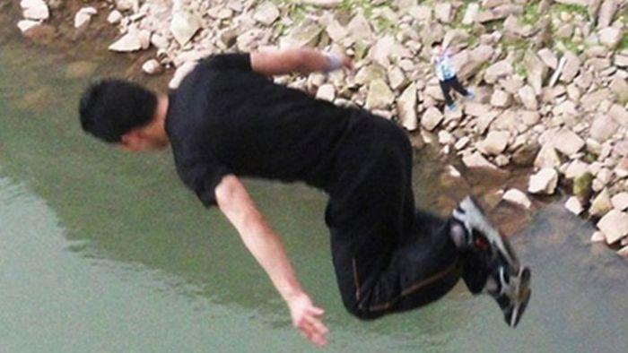 Молодой паркурщик погиб во время прыжка с моста (5 фото)