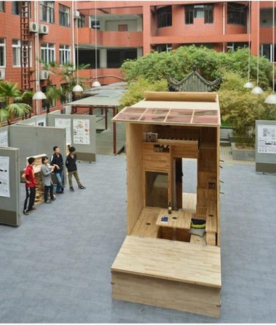 Креативный китайский проект крошечного жилого дома (14 фото)