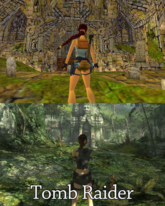 Компьютерные игры в прошлом и в наши дни (20 картинок)