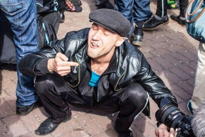 """Необычный """"гоп-парад"""" на улицах Киева (24 фото)"""
