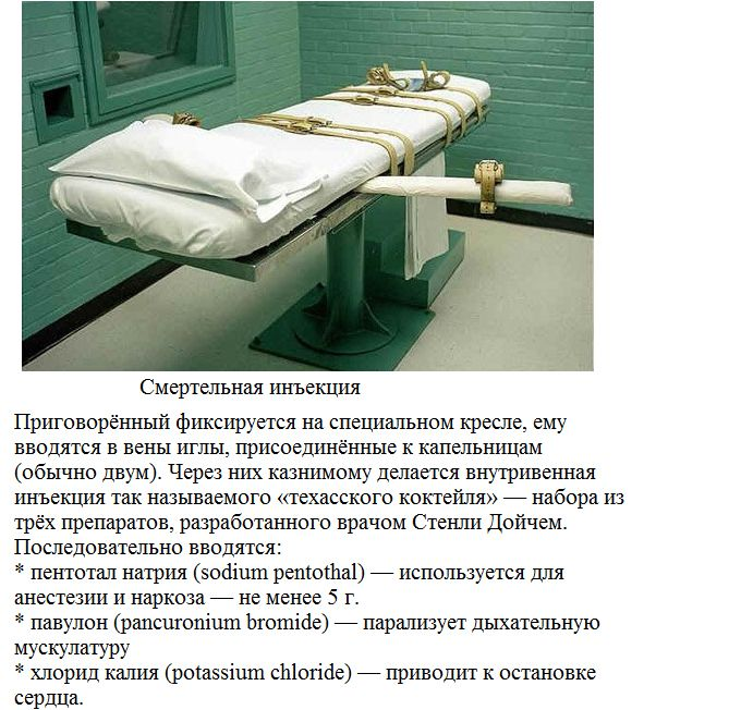 Способы исполнения смертного приговора в наши дни (7 фото)
