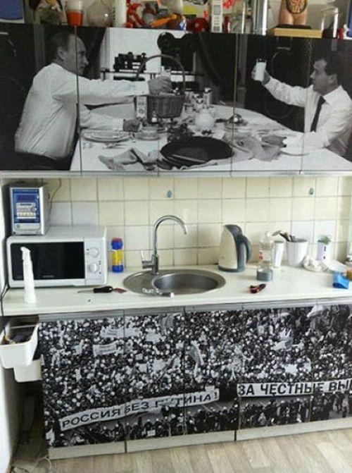 "Креативный способ ""рестайллинга"" старого кухонного гарнитура (4 фото)"