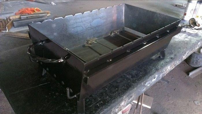 Делаем мангал для мяса своими руками (14 фото)