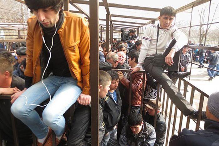 Как гастарбайтерам приходится получать разрешение на работу в Москве (14 фото + видео)