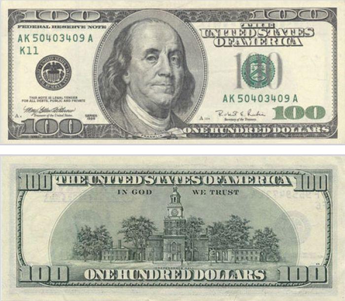 Как с годами изменялась купюра в 100 долларов (15 фото) » Триникси