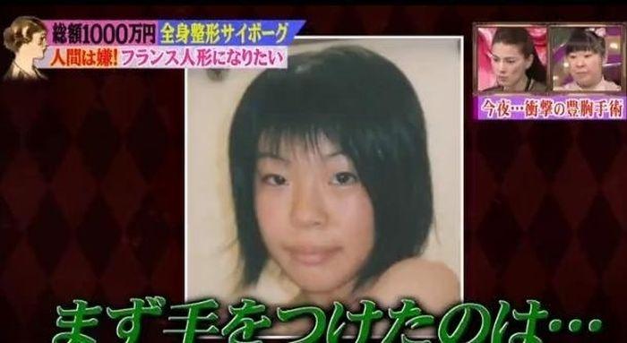 """Японская модель """"до и после"""" 30 пластических операций (15 фото)"""