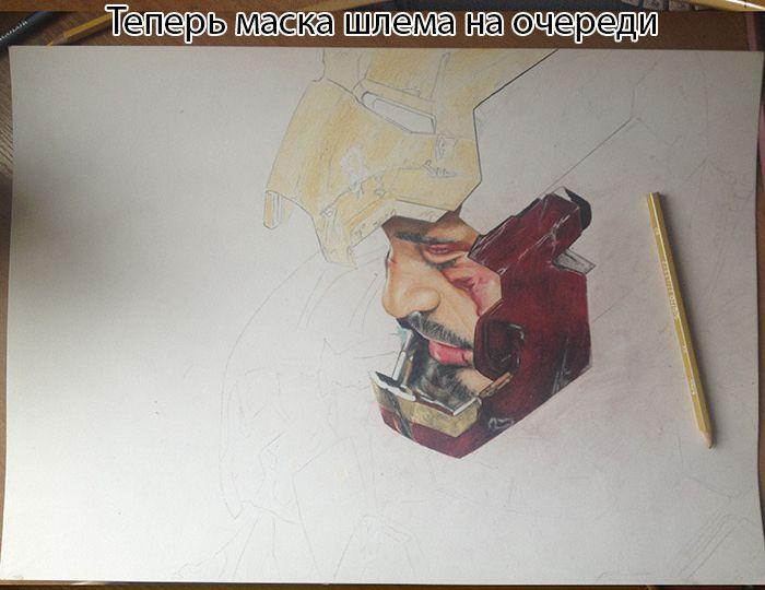 """Удивительный рисунок """"Железного человека"""" (11 фото)"""