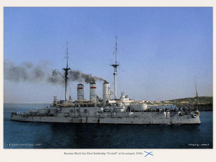 Цветные фотографии российского флота из прошлого (20 фото)