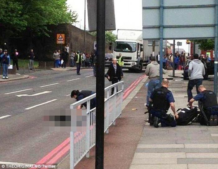 Убийство солдата в Лондоне (5 фото + видео)