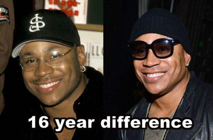 Знаменитые люди, которые не меняются с годами (14 фото)