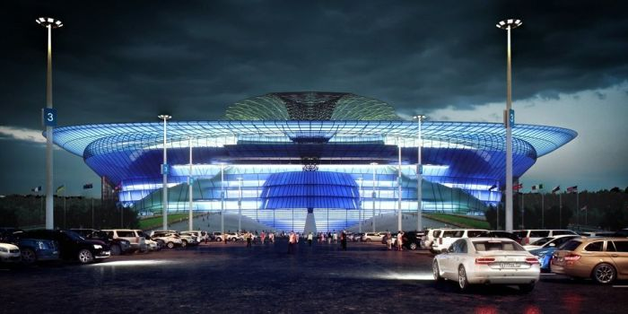 Концептуальный дизайн стадиона Лужники (8 фото)