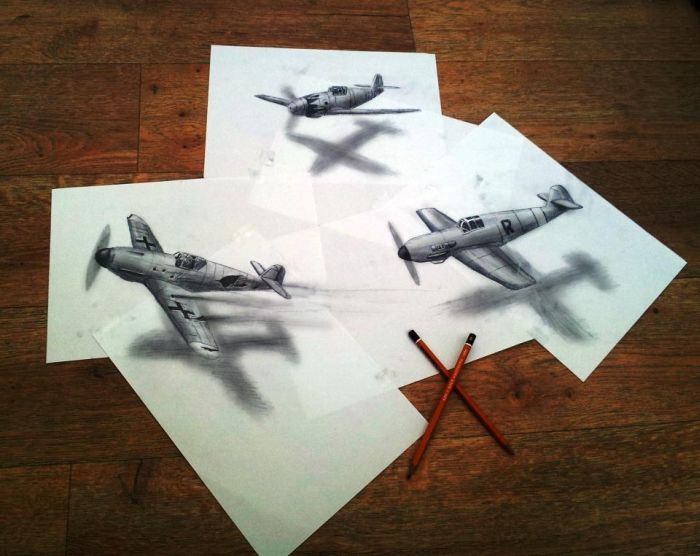 3D рисунки на плоской бумаге- 40 фото. - 19 Июня 2013 - НАША ...