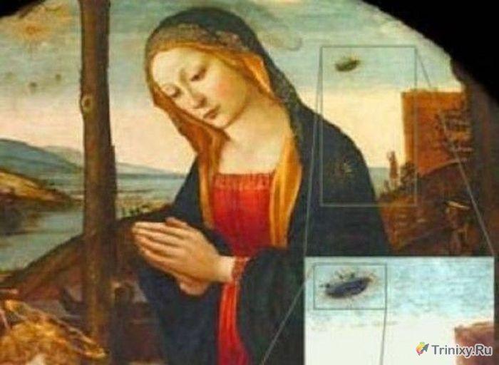Поиск доказательств существования НЛО на древних картинах (15 фото)
