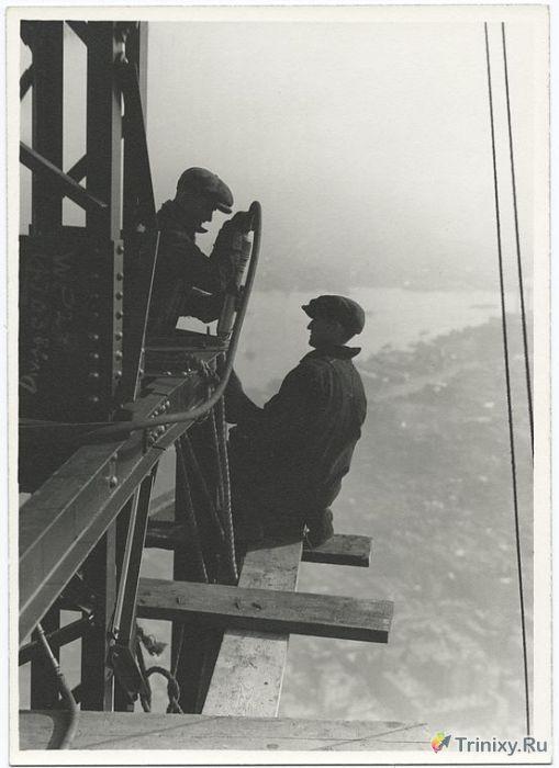 Архивные снимки строительства Эмпайр-стейт-билдинг (24 фото)