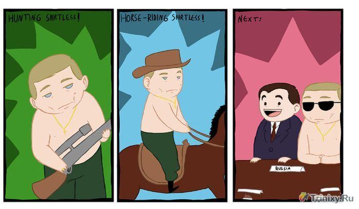 Зарубежные карикатуры Владимира Путина (25 фото)