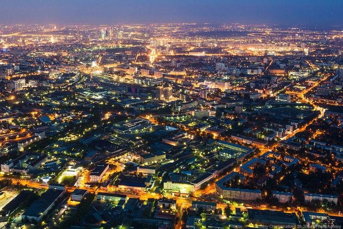 Панорамный вид на Москву с высоты 503 метра (27 фото)