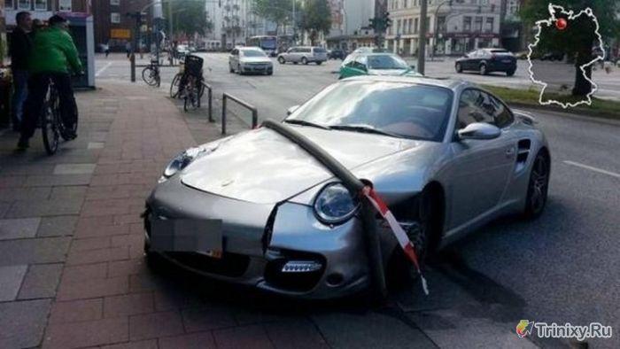 """""""Мастер парковки"""" на Porsche (3 фото)"""