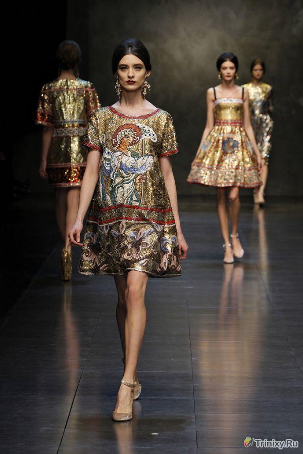 Странный стиль последней коллекции Dolce & Gabbana (10 фото)